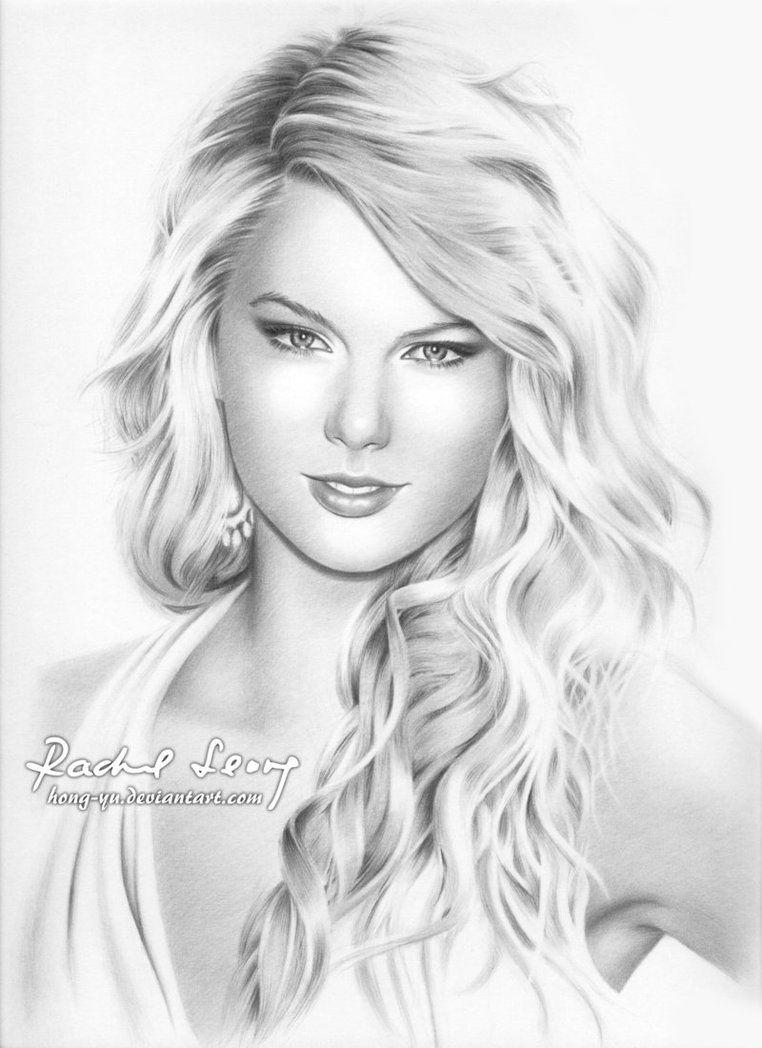 Pencil drawing of Taylor Swift by Hong-Yu on deviantART   dibujos ...