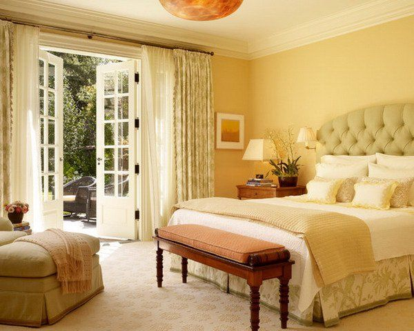 45 Beautiful Paint Color Ideas for Master Bedroom | Yellow master ...