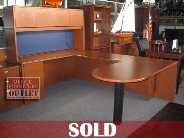 U Shaped Used Desk For Sale Sales Desk