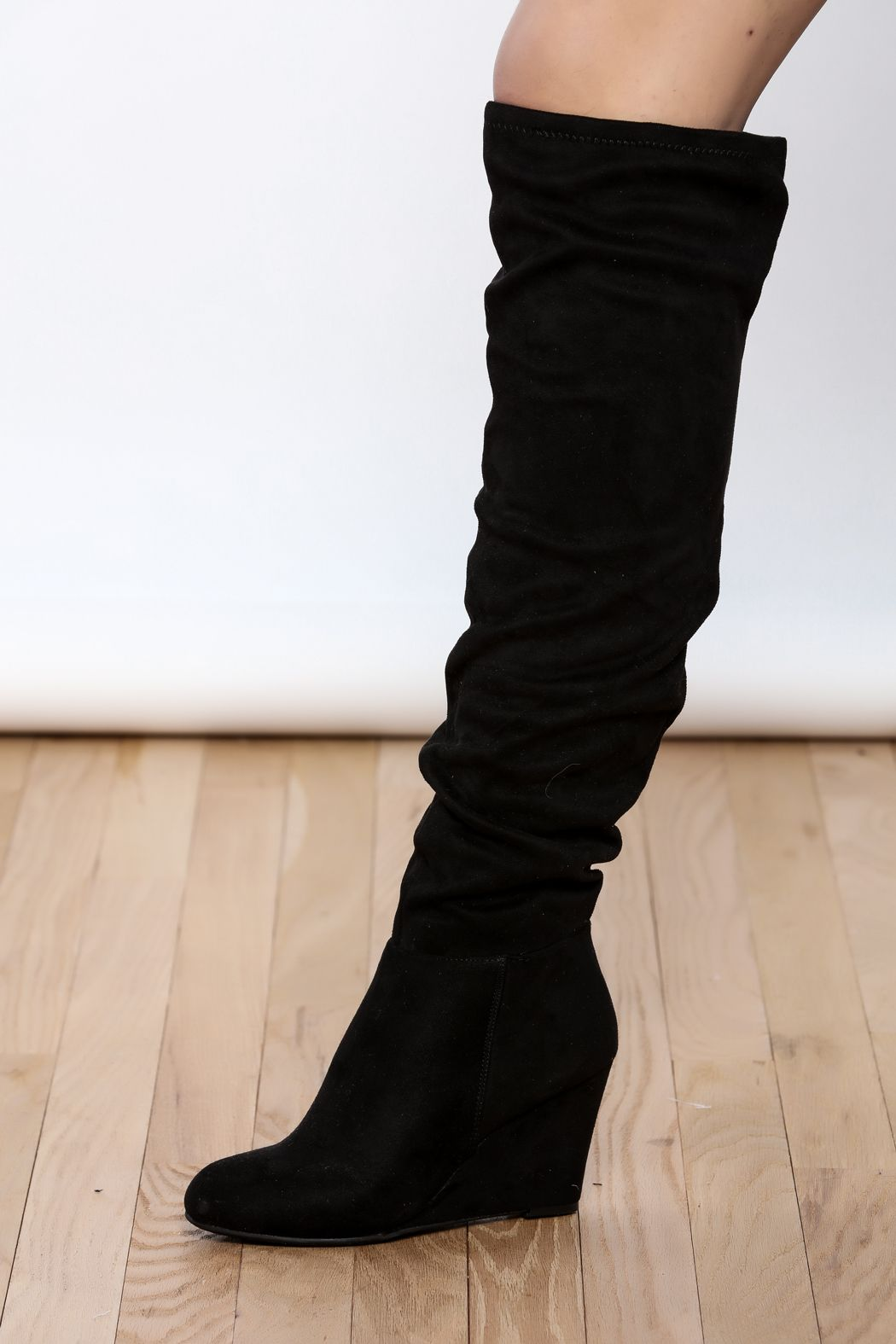 Chinese Laundry Wedge Boot Boots Wedge Boot Suede Boots Knee High