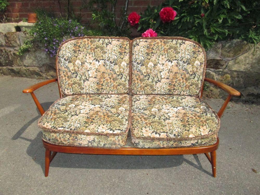 Vintage Ercol Windsor 2 Seater Sofa Sofa Ebay Vintage Sofa Vintage Modern Sofa