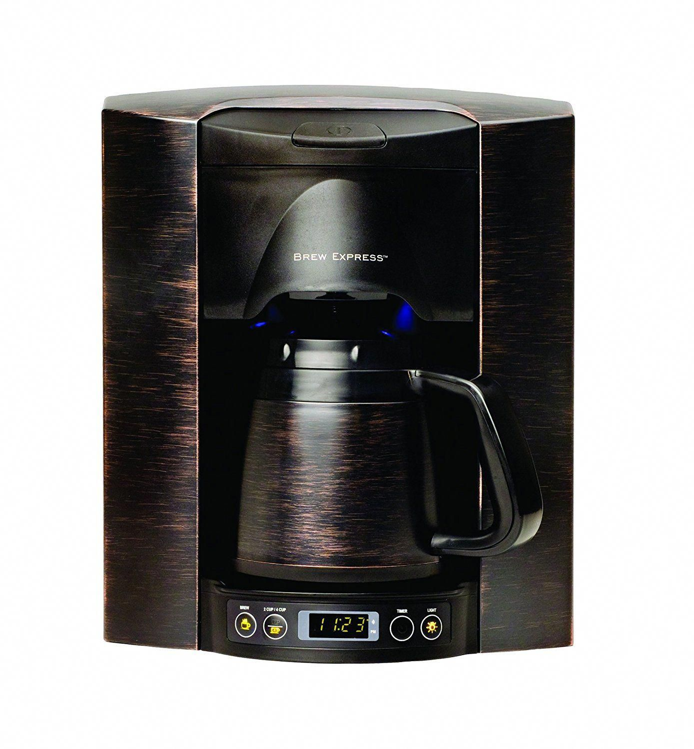Brew Express Be 104r 144a 4 Cup Built In Coffee System Bronze Hario Syphon Next Nxa 5