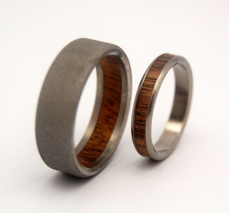 Etsy Wooden Wedding Rings Unique Wedding Ideas