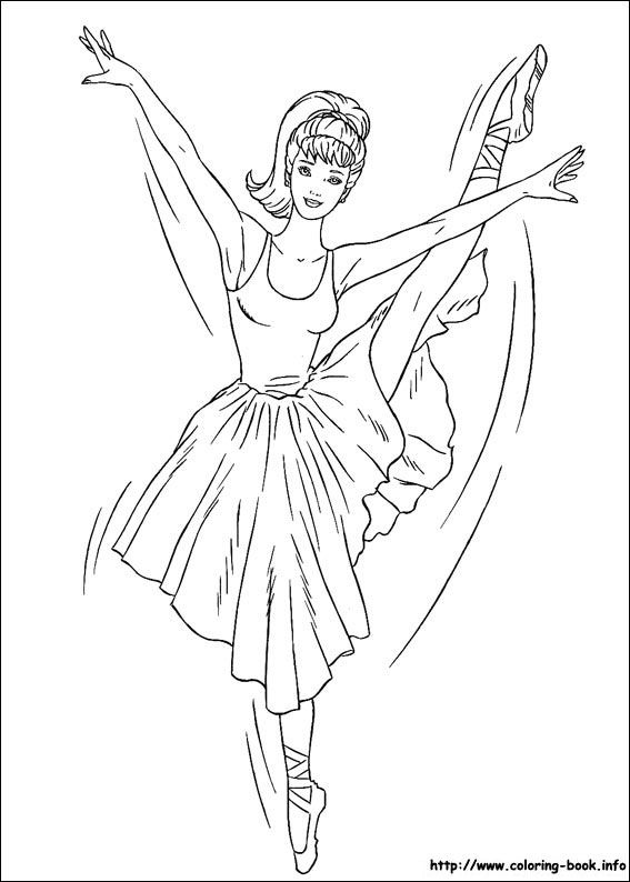 barbie coloring picture - Barbie Coloring Pages For Kids
