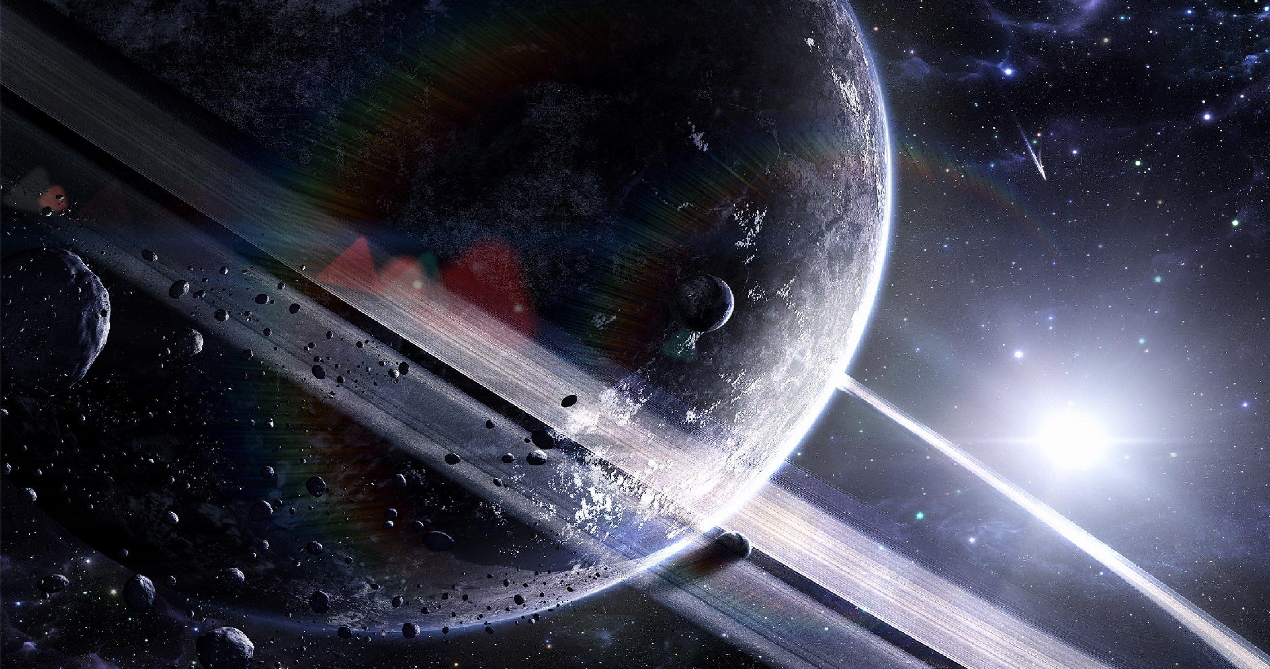 Gigant Planet Rings 4k Ultra Hd Wallpaper Wallpaper Space Space Wallpapers Space Wallpaper Hd