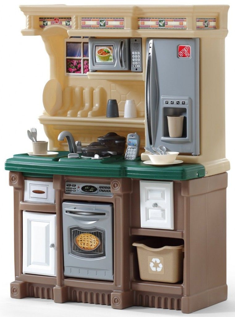 Step2 LifeStyle Custom Kitchen II, Brown/Tan/Green | Play ...