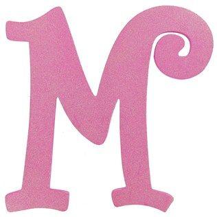 11 1 2 Hot Pink Glitter Letter M Shop Hobby Lobby Glitter Letters Pink Glitter Red Glitter