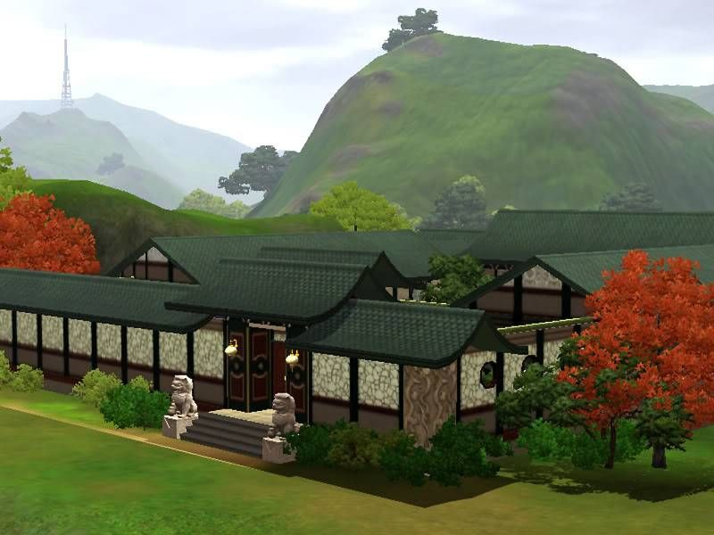 Mod The Sims Chinese Courtyard House Chinese courtyard