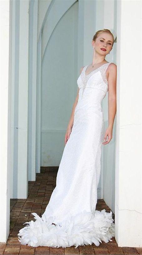 Feather Wedding Dress White Lace | Wedding Dresses | Pinterest ...