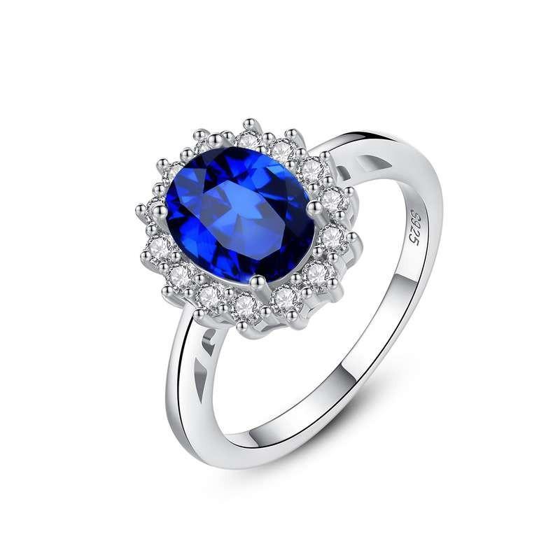 Czcıty Princess Diana William Kate Diamond Rings Sapphire