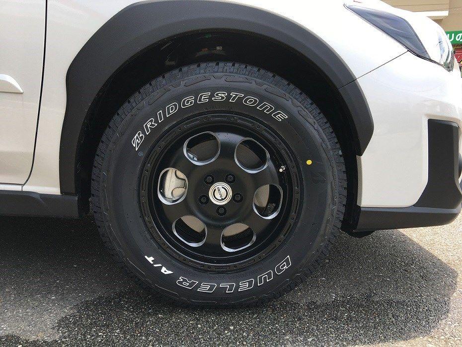 スバル xv にこのホイール タイヤ タイヤ ホイール関連 タイヤ ホイール交換 入荷 Cm 施工事例 タイヤ館 松崎 タイヤからはじまる トータルカーメンテナンス タイヤ館グループ スバル Xv ホイール タイヤ ホイール