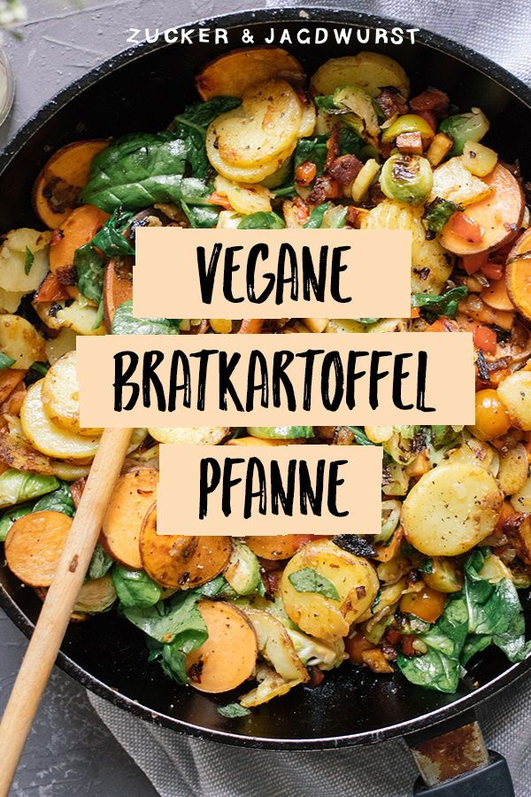 Vegane Bratkartoffeln mit Gemüse