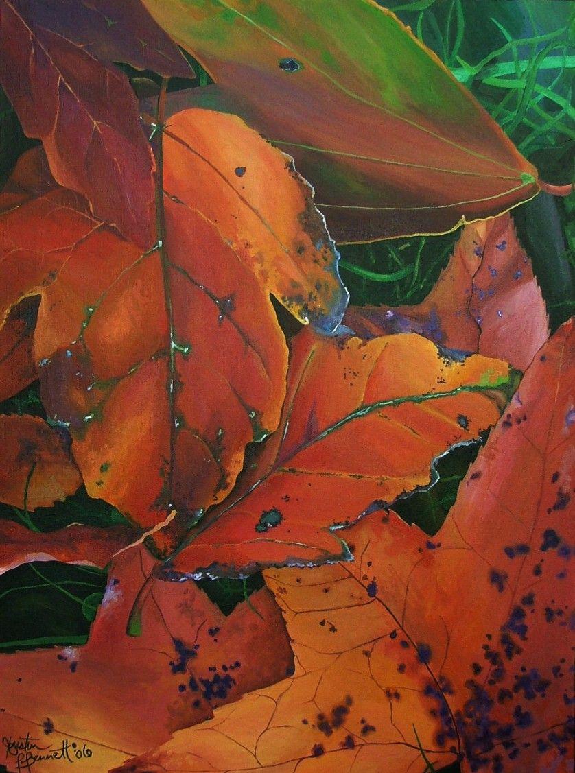 fall leaves painting - Kristin Bennett