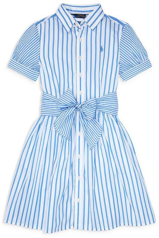 4e2ef14f5 Ralph Lauren Girls  Mixed-Stripe Fit-and-Flare Dress - Big Kid in ...