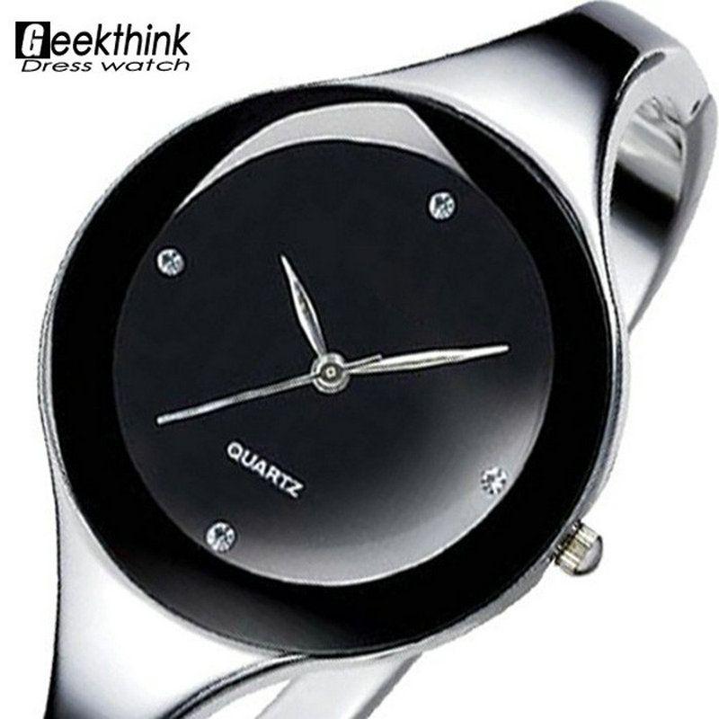 31215da3374 Relojes mujer 2016 Pulseira de aço Inoxidável relógio de Pulso relógio de  Quartzo Vestido de Mulher Senhoras Relógios Relógio Feminino Relogio  feminino
