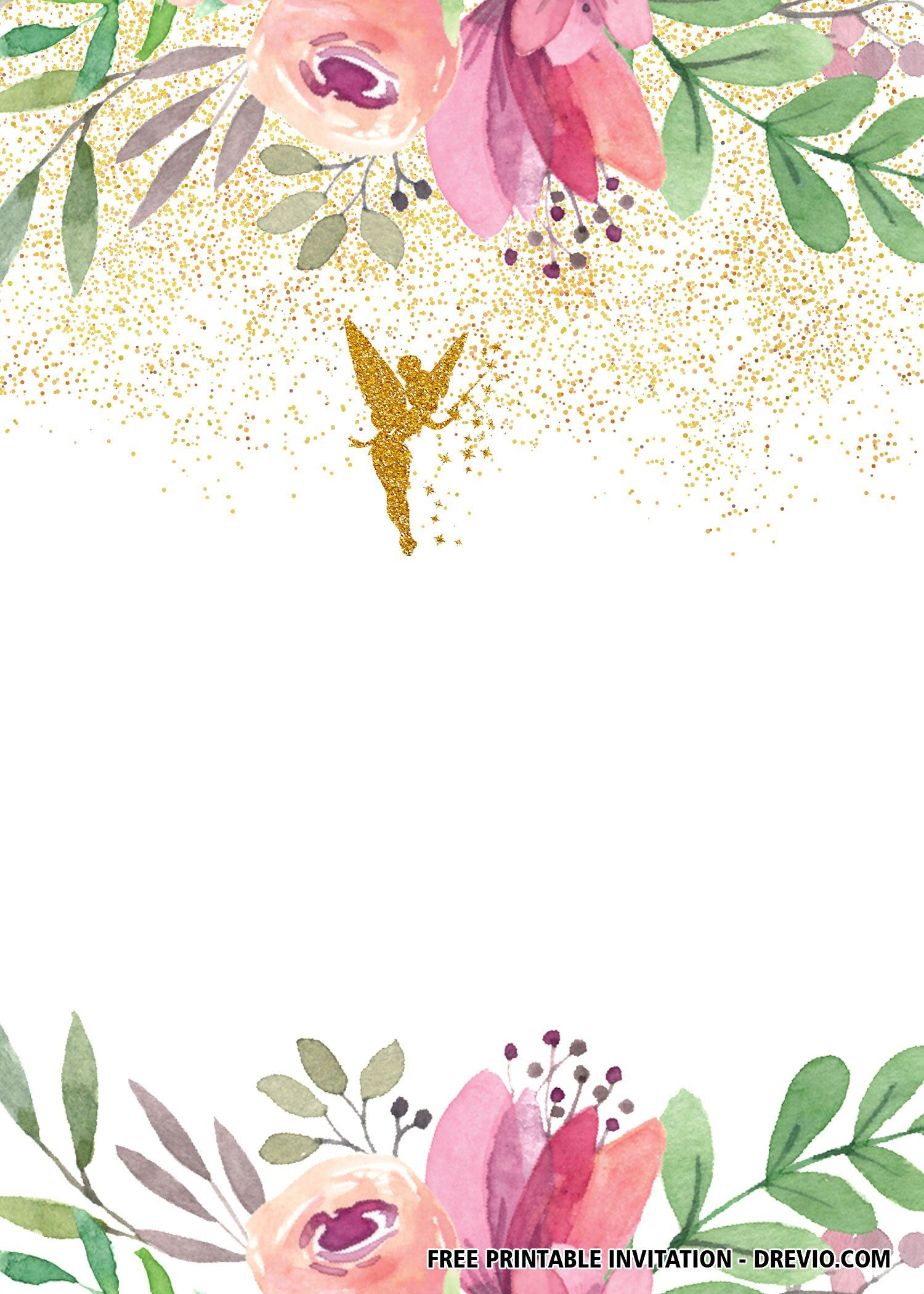 Free Fairy Invitation Templates In 2021 Fairy Invitations Fairy Party Invitations Free Printable Birthday Invitations