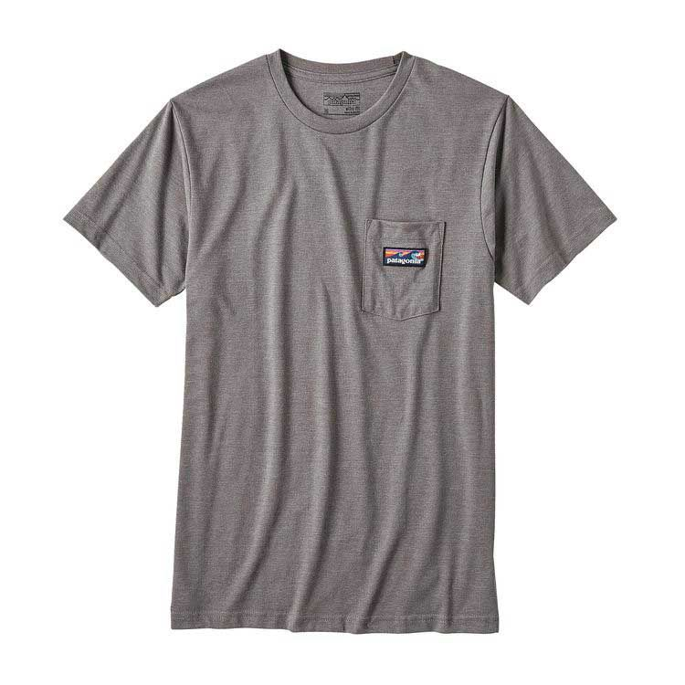 98b37809 Patagonia Mens Board Short Label Pocket T-Shirt in Narwhal Grey 39053-NHG