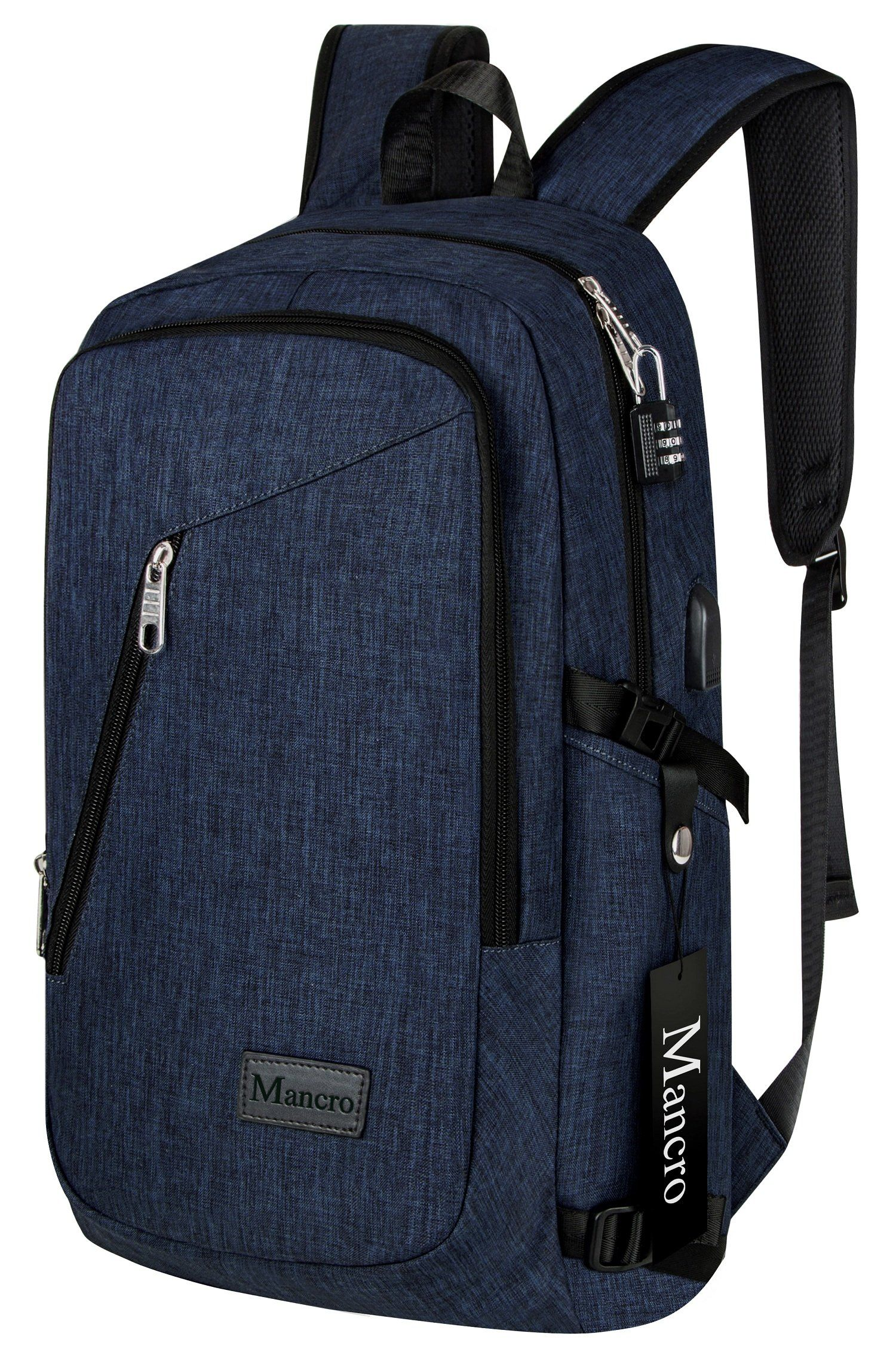 College Backpack, Business Slim Laptop Backpack, Mancro Anti-theft ...
