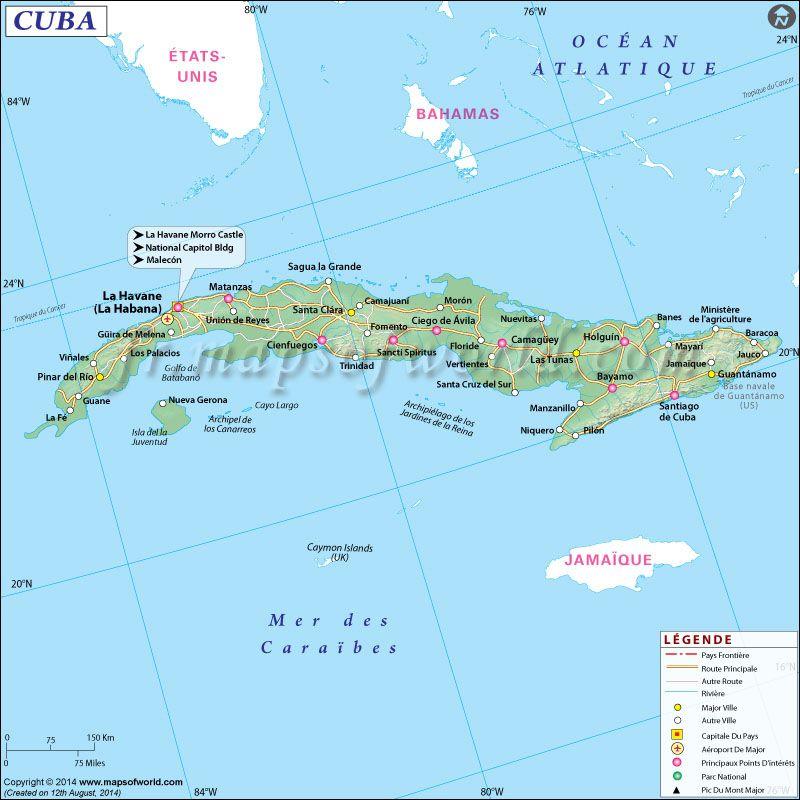 SCarte de Cuba | Voyage ❤   CUBA | Pinterest | Voyage