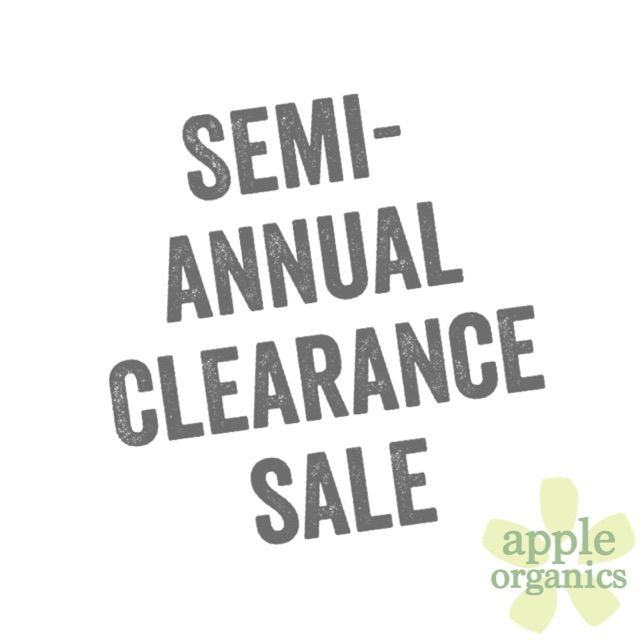 Two days into Apple Organics Semi-Annual Clearance Sale, and inventory is going FAST! Now is your chance to get anything in stock at tremendous savings to you! Hurry, inventory is limited and once it's gone it will be stocked at regular price. Visit shopappleorganics.com NOW! #SemiAnnualClearanceSale #Sale #Clearance #Live #Love #ToxicFree #AnAppleADay #OrganicSkincare #AllNatural #Vegan #CrueltyFree #Beauty #SkinCare #SmallBatch #GreenBeauty #ecoSkincare #ShopSmall #Greenvil