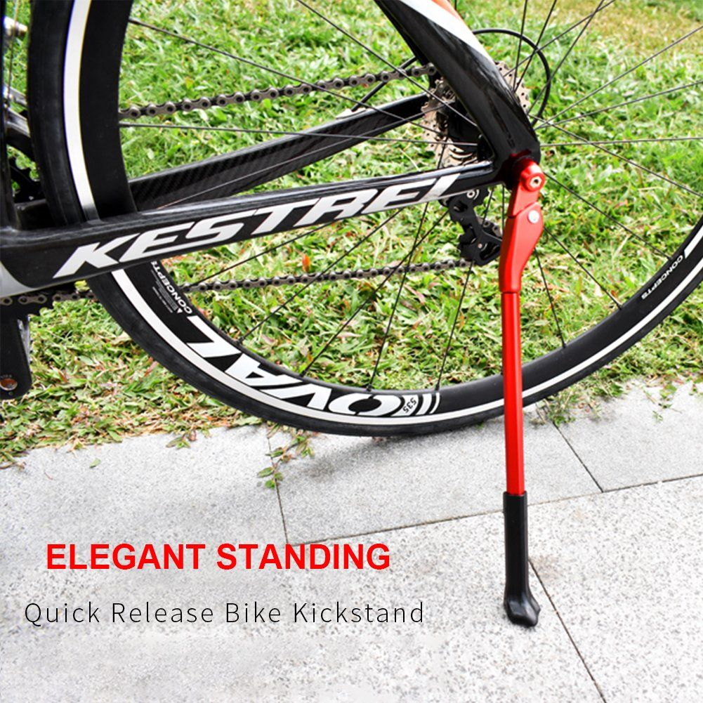 Icocopro Bike Kickstand Adjustable Aluminum Alloy Bike Stand Fits