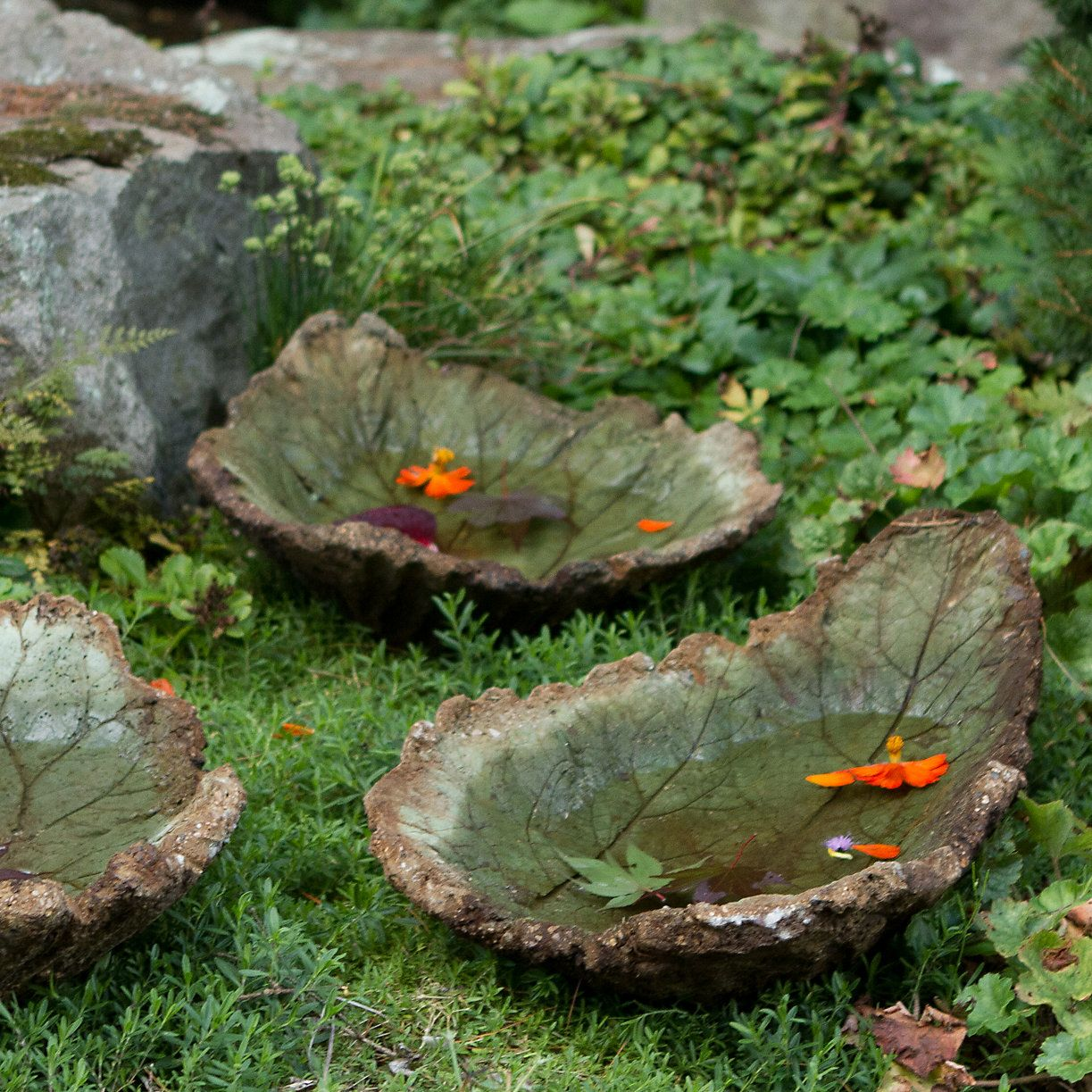 Hand-Cast Burdock Birdbath | Hand cast, Bird bath garden and Gardens