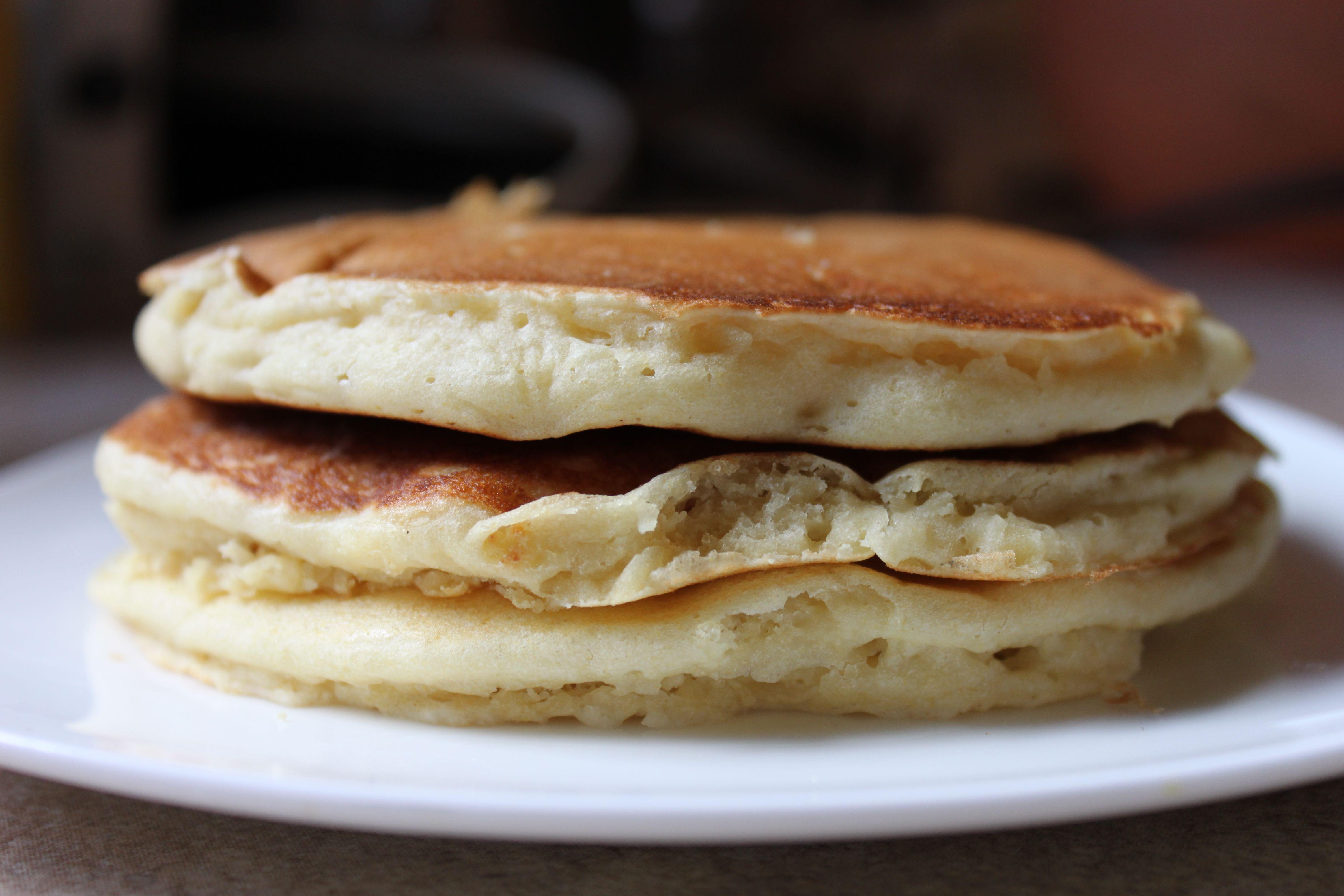 How to make fluffy vegan pancakes using aunt jemimas mix