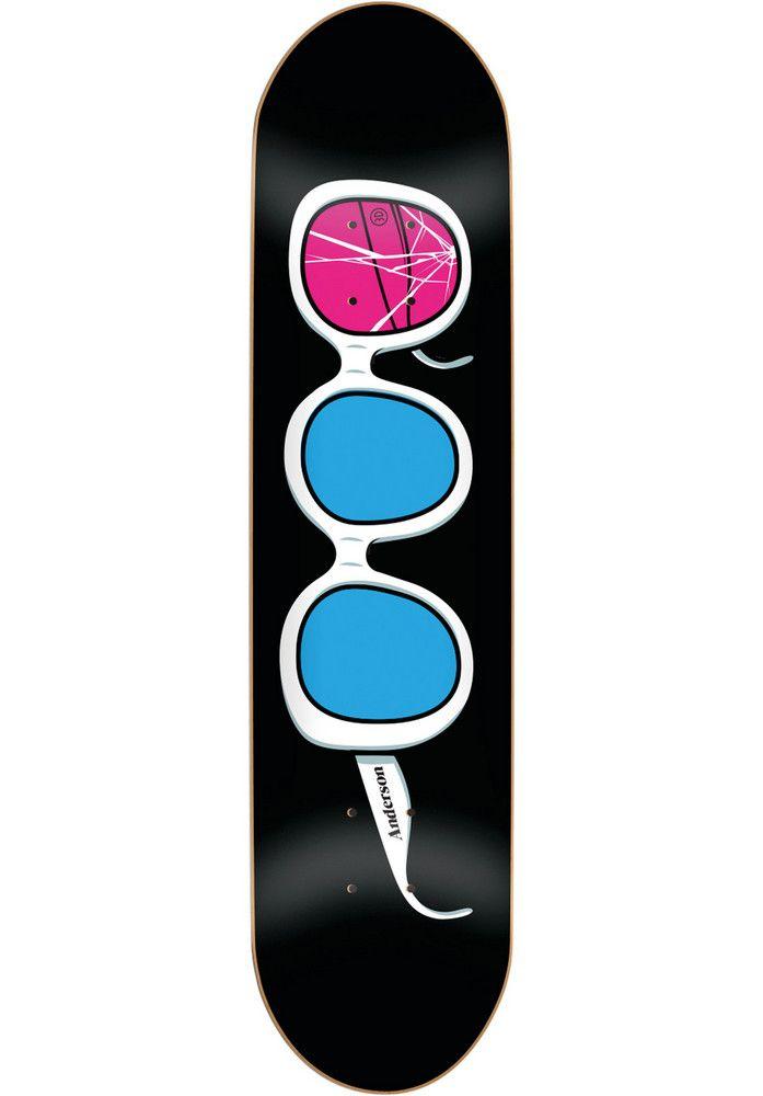 3D Anderson-Glasses, Deck, black Titus Titus Skateshop #Deck #Skateboard #titus #titusskateshop