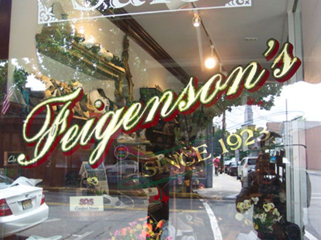 Glass window with Feigensons Since 1923 logo in Gold Leaf by Royce Signworks - See more at: http://www.roycesignworks.com/gallery.html#sthash.QbGHgIr0.dpuf