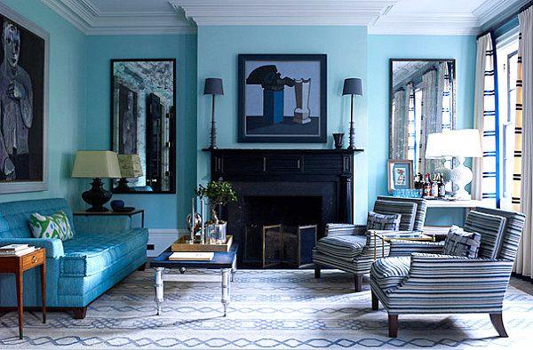 Vivid Design Top Color Trends For 2013 Living Room Turquoise Blue Living Room Blue Bedroom Decor Living room colour schemes 2013