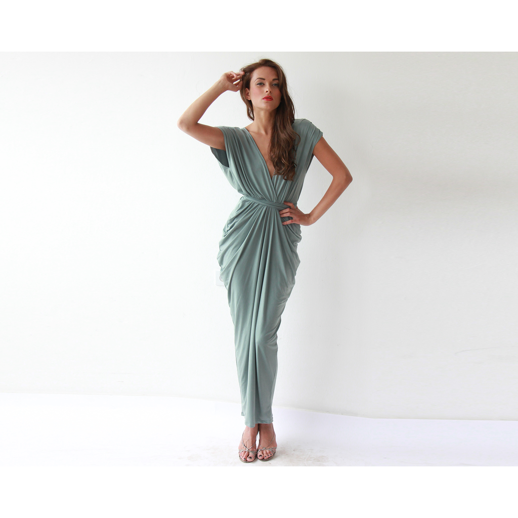 Sage green formal maxi dress magnificent party dress features