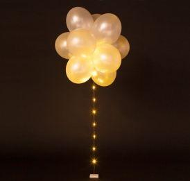 Ballon LED verlichting Wit Continuous €5.25 1 metre | Ballon | Pinterest