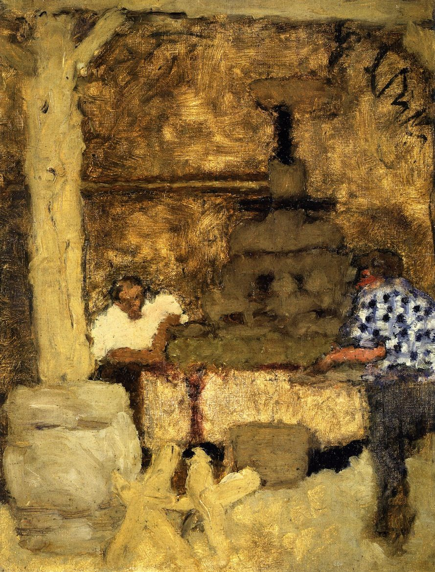 Pressing Room at Grand-Lemps, 1893 / Pierre Bonnard