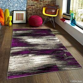 For Purple Allstar Modern Contemporary Woven Rug Drop Sch Weave Technique