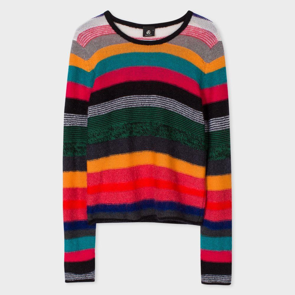 Paul Smith Women's 'Rainbow Stripe' Wool-Blend Sweater