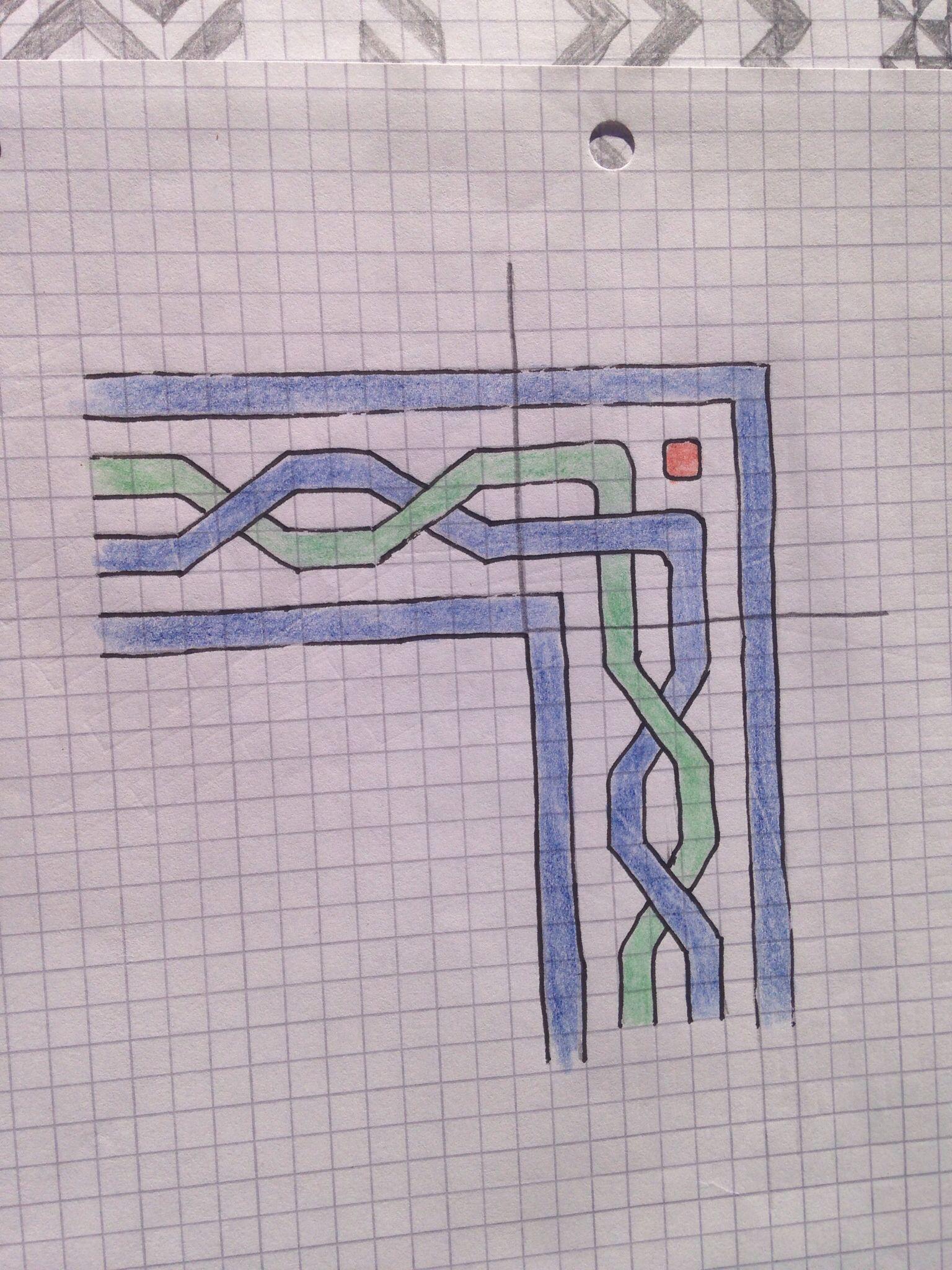 Border braid with corner dot | Tessellations and borders | Pinterest ...