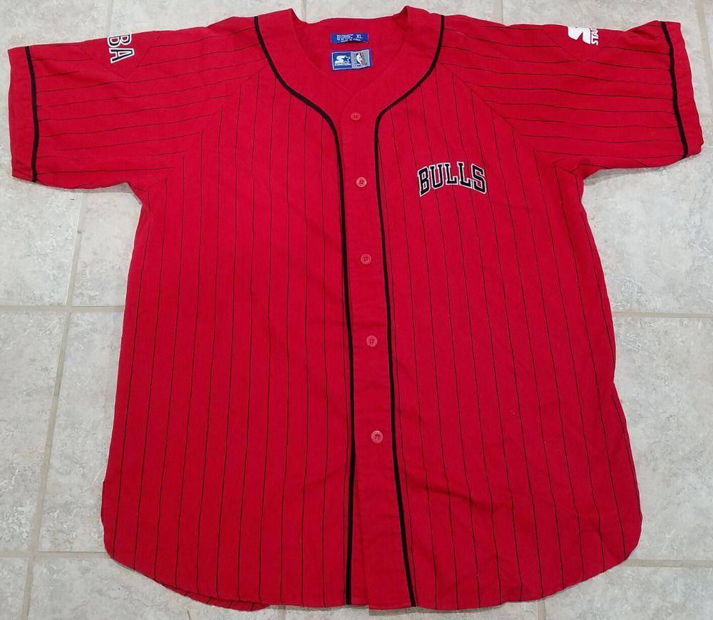 debbecb7f6edc ... norway chicago bulls vintage nba starter baseball button down jersey  mens size xl starter chicagobulls f766d