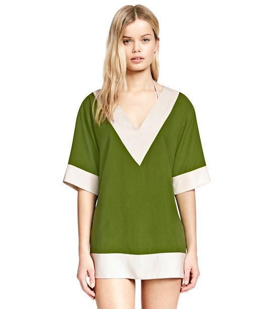 LIPSI TUNIC LEAF GREEN / IVORY (With images) Fashion