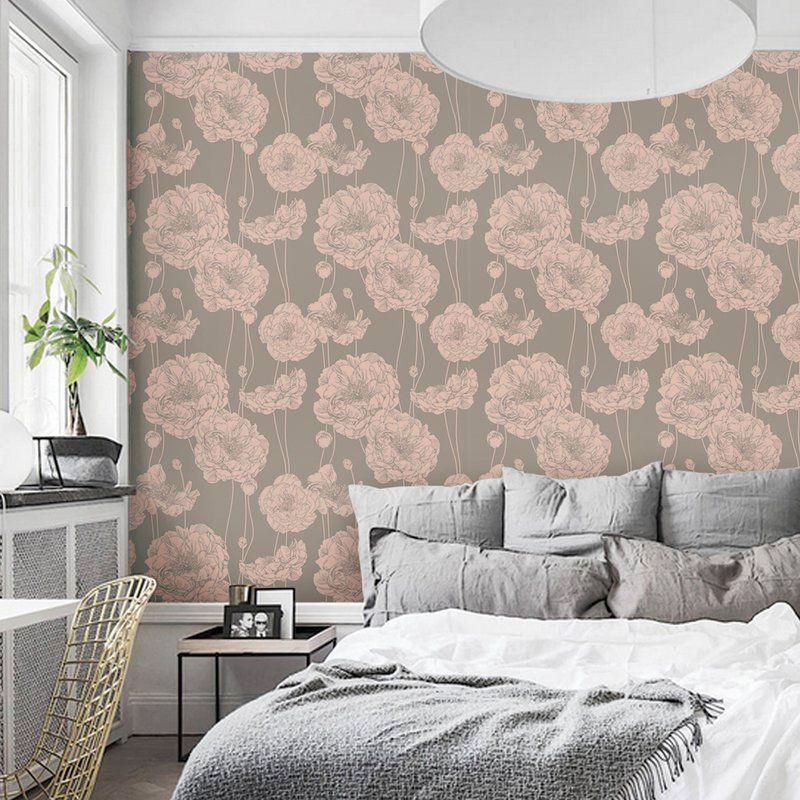 Mullen Peony Peel And Stick Wallpaper Panel Wallpaper Panels Peony Wallpaper Peel And Stick Wallpaper