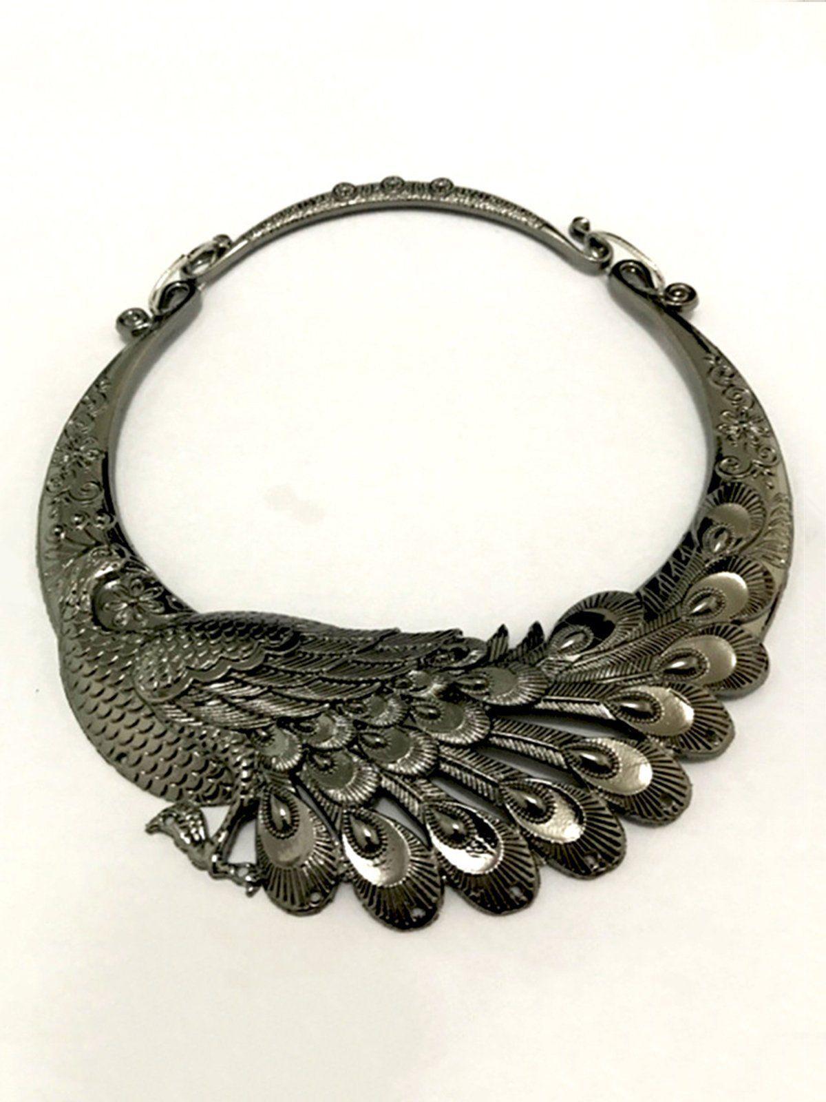 Photo of Alloy Party Vintage Elegant Choker   ACC   Aws.anniecloth gold jewelry Vinta …