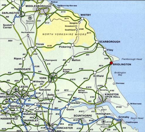 East Riding Yorkshire England showing Beverley and Howden Percon