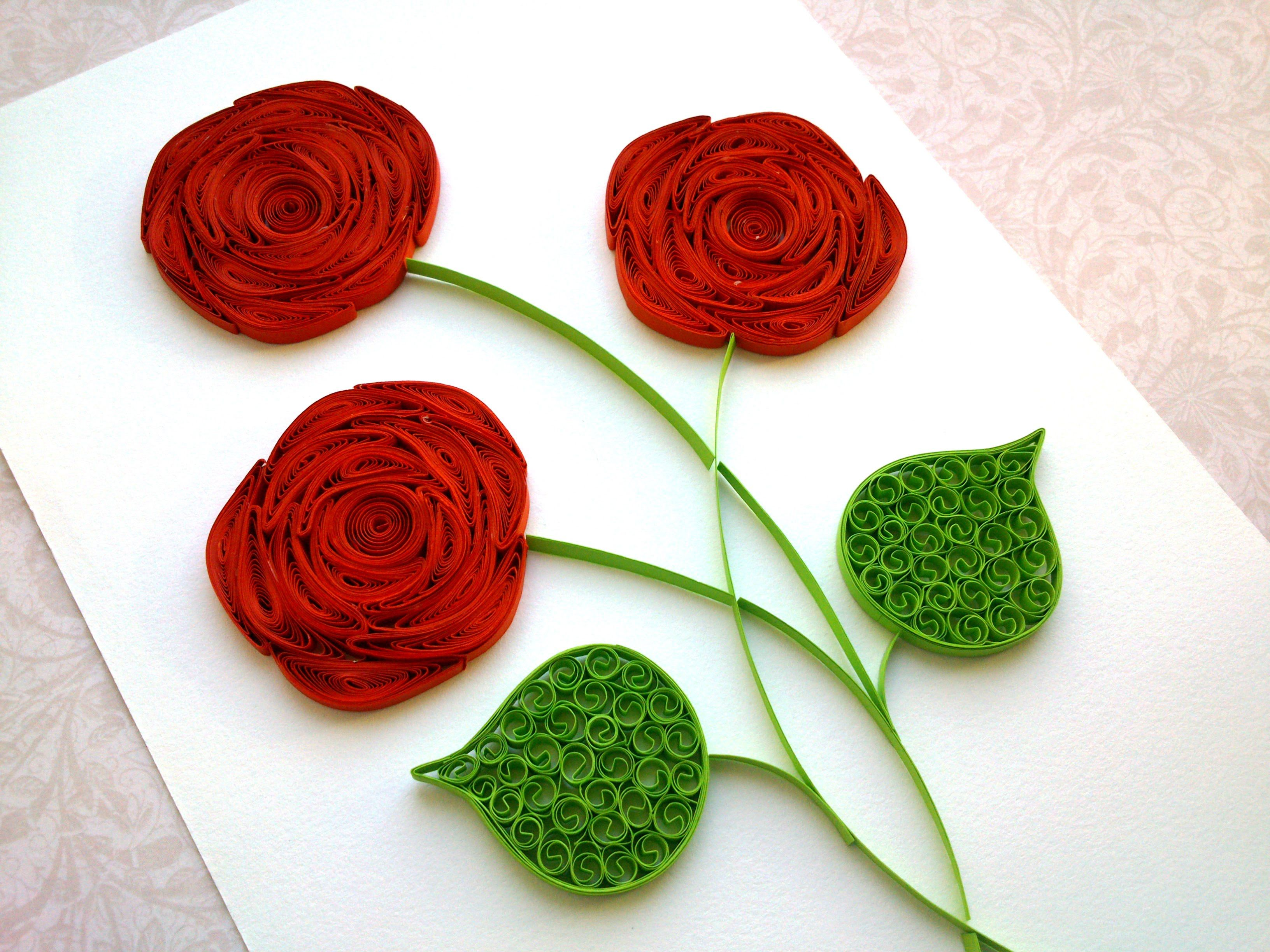 Quilling Rose Tutorial How to make a rose with a paper