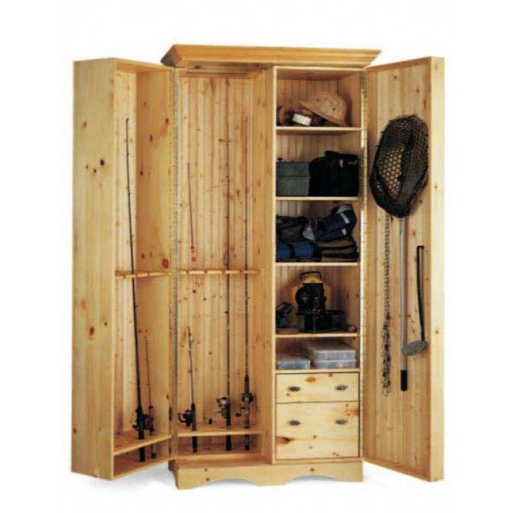 Diy Storage Cabinet Plans: An Angler's Cabinet Downloadable Plan
