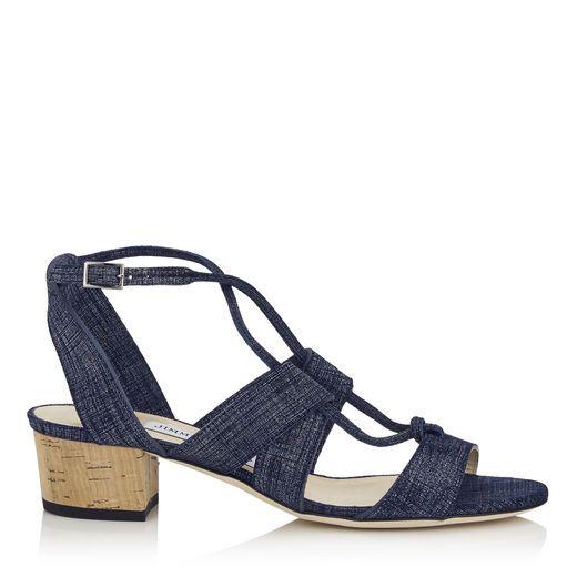d4d1972f0e JIMMY CHOO MARGO 40 Light Indigo Denim Leather Sandals. #jimmychoo #shoes #s