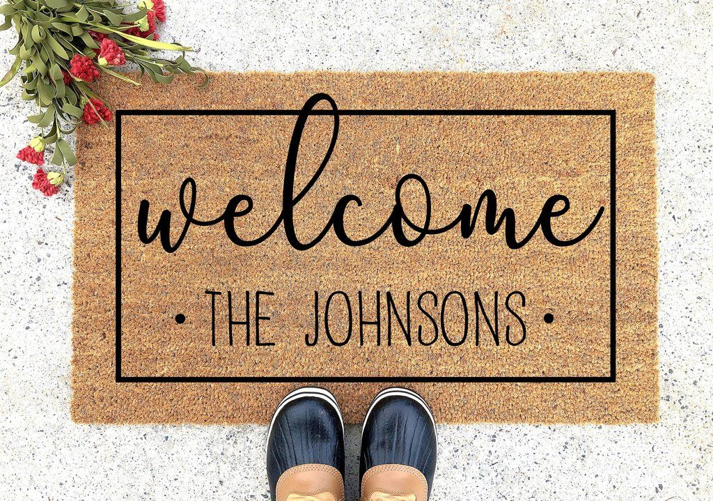 Personalized Welcome Doormat Door Crafts Personalized Door Mats