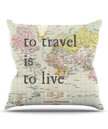 Look what I found on #zulily! 'To Travel is to Live' Throw Pillow by KESS InHouse #zulilyfinds