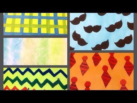 Papel scrapbook paterno como hacer hojas decorativas - Youtube manualidades de papel ...