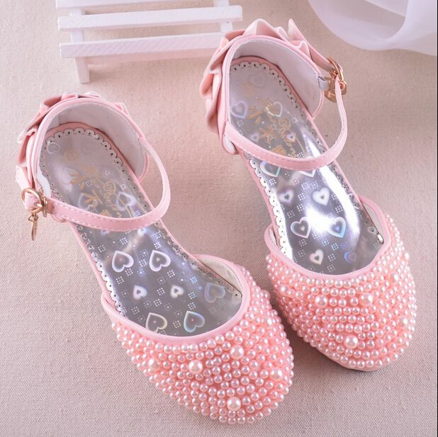 2019 Kids Princess Shoes Students Party Flats Children Dress Shoes for Girl