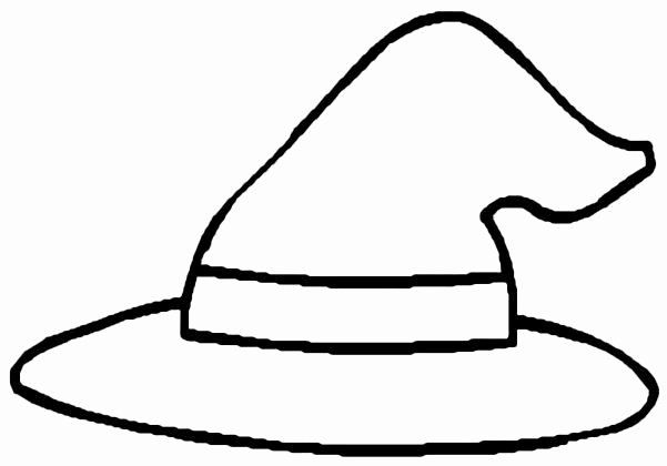 Witch Hat Coloring Page Elegant Pin On Preschool October ...