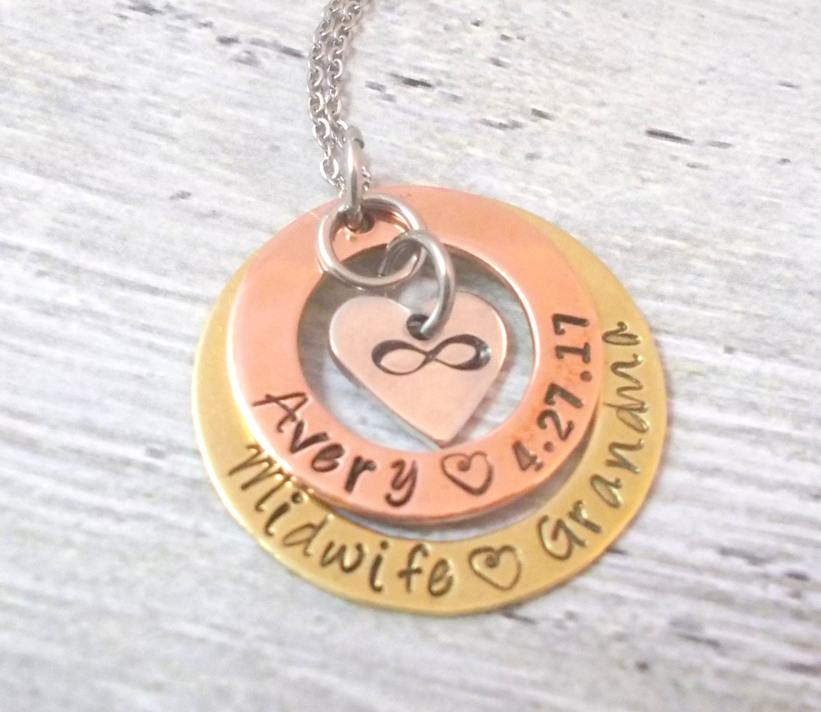 Personalized infinity necklace name and date necklace anniversary